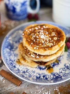 läckra amerikanska pannkakor med smak av kanelbulle