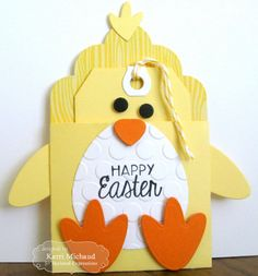 Happy Easter Gift Card from @Taylored Expressions - Don't forget to use Removable Glue Dots to adhere a gift card to the tag!