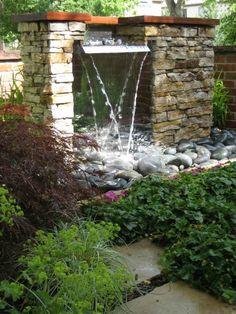 327 mejores im genes de dise o fuente de agua fuentes de - Diseno de cascadas para jardin ...