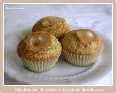Bloc de recetas: Magdalenas de limón con semillas de amapola