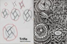 Trifle-Tangle Pattern by molossus, who says Life Imitates Doodles, via Flickr