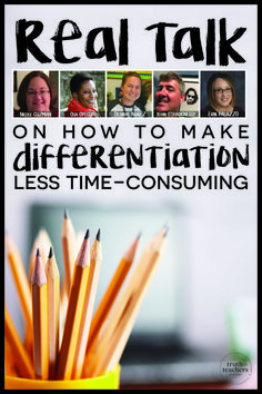 What exactly does *sustainable* differentiation look like on a daily basis? 5 experienced teachers share the approaches that have (and haven't) worked for them. Differentiation Strategies, Differentiation In The Classroom, Differentiated Instruction, Teaching Strategies, Teaching Resources, Teaching Ideas, Teaching Technology, Flipped Classroom, Teaching History