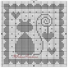 schemi vari - free - Schemino free per… - Ancora uno schema… - Schema free… Cat Cross Stitches, Cross Stitch Heart, Cross Stitch Animals, Cross Stitching, Cross Stitch Embroidery, Cross Stitch Patterns, Crochet Patterns, Filet Crochet Charts, Crochet Cross