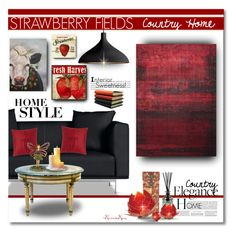 """""""Strawberry Fields - Country Home Elegance"""" by nonniekiss ❤ liked on Polyvore"""