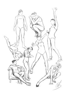 Poses study by RinFaye