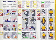 Air France Concorde Safety Card