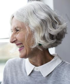 Gorgeous Hairstyles for Older Women: A Great Short Hairstyle if Your Hair is Thick and Wavy
