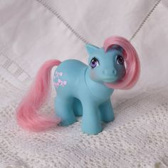 Vintage My Little Pony 'Baby Bow Tie' Blue with Pink Hair & Bows - G1 - 1984 - Rare - MLP - UK Exclusive - Mint by TeaJay, Vintage Toy Animal MLP Baby Family 1986 hasbro teajay G1 my little pony UK Christmas Daughter Bow Tie Bowtie