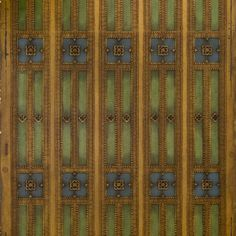 Bronze Gilt/Green Stripes with Blue Square Ornaments # Rolls: of border) Condition: Excellent Antique Wallpaper, Original Wallpaper, Borders For Paper, Craftsman Bungalows, Blue Square, Wallpaper Roll, Green Stripes, Rolls, At Least