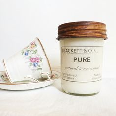 BLACKETT & CO. PURE natural and unscented Pure candle. for those who want to enjoy the ambiance of our clean burning candles without fragrance. |CORE COLLECTION|