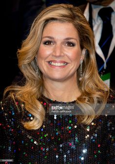 Queen Maxima of The Netherlands attends an trade dinner in the Kongresshalle am Zoo during their 4 day visit to Germany on February 08, 2017 in Leipzig, Germany.