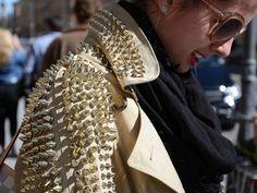 Gold studded jacket