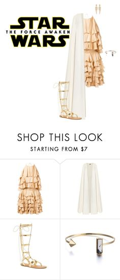 """""""Star Wars: The Force Awakens"""" by sophiatsunis ❤ liked on Polyvore featuring Balmain, La Mania, Stephen Webster, starwars and contestentry"""