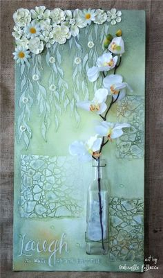 Mixed media Canvas/home decor tutorial by Gabrielle Pollacco using TCW (The Craf., Mixed media Canvas/home decor tutorial by Gabrielle Pollacco using TCW (The Crafter's Workshop) stencils and Shimmerz Paints. Stencils used in this pr. Mixed Media Tutorials, Art Tutorials, Painting Tutorials, Painting Techniques, Mixed Media Collage, Mixed Media Canvas, Collage Art, Canvas Collage, Paper Collages