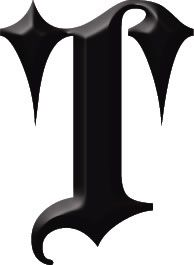 Gothic Letter T Tattoo