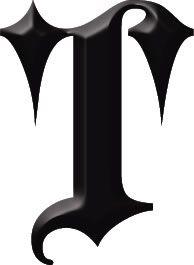 Gotische Letter T Tattoo T Like Tota Pinterest Lettering