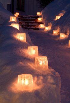 Winter ice lanterns in star form. Find them on www.coolstuff.se or link below