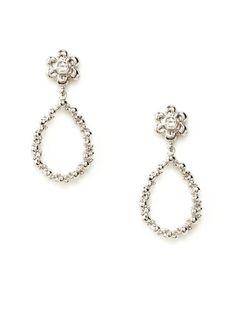Anzie  Flower & Open Teardrop Earrings