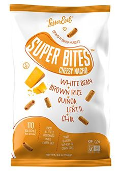 LesserEvil Super Bites Healthy Snack Baked With an All Natural Combination of White Beans Quinoa Lentils Chia Seeds and Cheddar Cheese Cheesy Nacho 5 oz Pack of 12 *** See this great product.