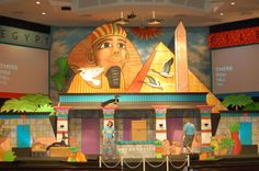 First Baptist Church Groves Vacation Bible School – Egypt June 26 – 30 Egypt Decorations, Joseph In Egypt, Egyptian Party, Vbs Themes, Creative Connections, Sunday School Kids, Bible School Crafts, Theme Background, Vbs 2016