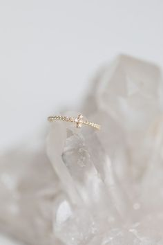 Tiffany and Co. / Fine Jewellery / Petite Diamonds / Engagement Ring / Gold Jewelry / Wedding Style Inspiration / The LANE #GoldJewelleryBridal #fineringsjewelry #fineweddingrings