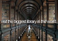 Visit the biggest library in the world