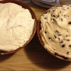 Chocolate chip cream cheese dip & cake batter dip...