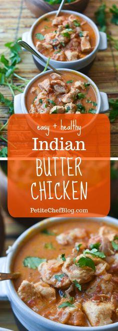 Easy Indian Butter Chicken Recipe - Whole30, Paleo, Keto, Gluten-Free, Dairy-Free | Creamy + delicious, easy dinner recipe | PETITECHEFBLOG.COM