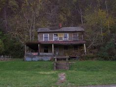 Abandoned house in the Ohio River town of Duffy, in Monroe county