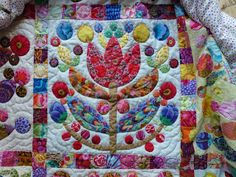Kim McLean quilt made by Marjan