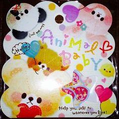 Kawaii-Q-lia-Animal-Baby-Sticker-Flakes-Sack-50-Stickers