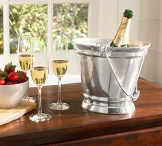 PB Chancellor Wine Cooler - reminds me of a fancy feeding bucket!