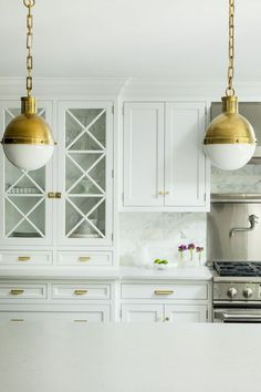 Caitlin Wilson's Kitchen | Rue (Love the Carrera subway tile with a safer CeasarStone countertop