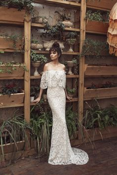 You know your wedding dress is a masterpiece when it's by Julie Vino