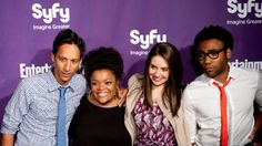 Danny Pudi, Yvette Nicole Brown, Alison Brie and Donald Glover  - San Diego Comic Con International Entertainment Weekly and SyFy