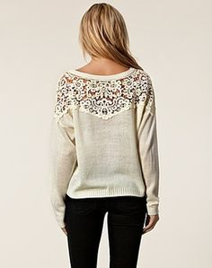Lace set sweater! Want!