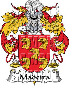 Madeira Family Crest apparel, Madeira Coat of Arms gifts