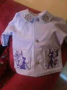 Toddler corduroy jacket with embroidery