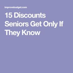 15 Discounts Seniors Get Only If They Know - Page 2 of 2 What To Make, How To Make Money, Harry And Meghan, Introvert, Cleaning Hacks, Budgeting, Improve Yourself, Saving Tips, Saving Money