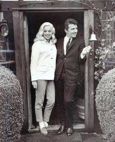 Richard Dawson with wife/actress Diana Dors April 24, 1959