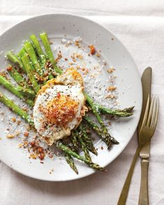 Fried Eggs with Asparagus, Pancetta & Bread Crumbs | Williams-Sonoma Taste
