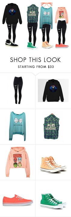 """""""Unbenannt #181"""" by nina-niallhoran ❤ liked on Polyvore featuring Wildfox, Converse, Vans and NIKE"""