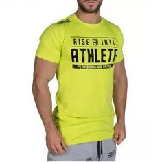 PHYSIQ Fashion Fitness t Shirt Crossfit Bodybuilding Short sleeve Slim fit Cotton