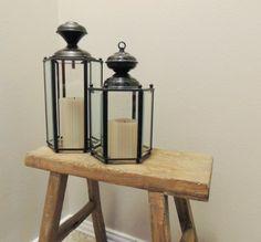 Make lanterns out of old light figures