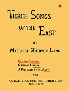 Lang, Margaret Ruthven : Oriental serenade, for medium voice. Op. 8. (Three…
