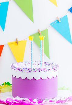 Birthday Cake box -- Caja pastel de cumpleaños ¡sorpresa! - Guía de MANUALIDADES