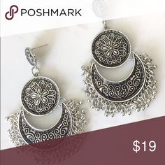 Magdalena Earrings ♡ Perfect accessory for any outfit!  ♡ Bohemian like dangle earrings  ♡ Available in silver ♡ PRICE IS FIRM. ALL LOWER OFFERS WILL BE DENIED.  ♡ Selling it for cheaper ($15) on my boutique website which is www.angeliteboutique.storenvy.com Jewelry Earrings