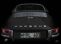 'Porsche 912 Coupé in black & black' created by www.Oldtimerphotography.de