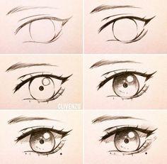 Eye reference art art sketches, drawings e eye sketch Realistic Eye Drawing, Drawing Eyes, Manga Drawing, Drawing Sketches, Drawing Hair, Iris Drawing, Drawing Style, Pencil Sketching, Eye Drawing Tutorials