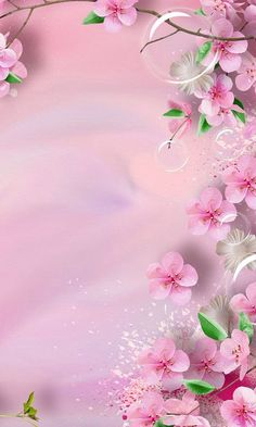 Precioso fondo rosado y floreado | Gorgeous pink, flowery background - #flores #flowers #wallpapers